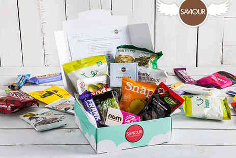 Saviour Snacks - Saviour Snacks Box Featuring Ten Full Sized Products Plus £5 Voucher to Give to a Friend  - Save 75%