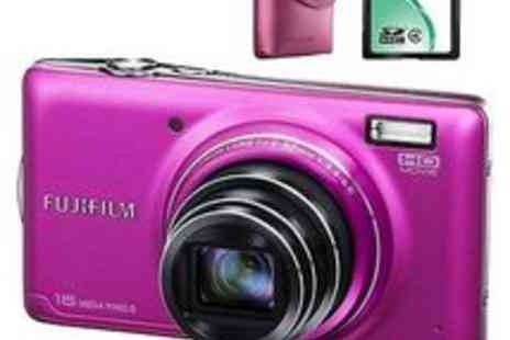 Blue Thirteen - Fujifilm FinePix T400 14MP Digital Camera with Case and 4GB Memory Card - Save 68%