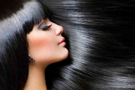 Fusion Salon - Cut Moroccanoil treatment blow dry and glass of bubbly - Save 69%