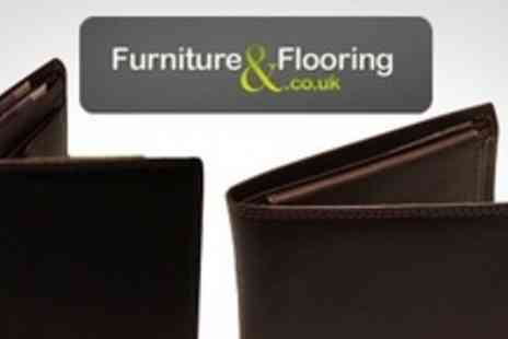 Furniture and Flooring - Small or Large Leather Wallet - Save 64%