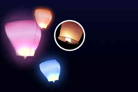 Sky Lanterns Online - 10 eco friendly white Chinese lanterns - Save 71%