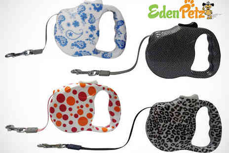 Eden Petz - Small or Medium Retractable Dog Lead in Choice of Colour - Save 50%