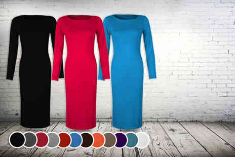 Karma Clothing -  Long sleeve bodycon midi dress - Save 47%