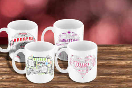 YourDesign.co.uk - Personalised typography Valentines mug - Save 50%