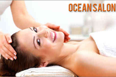 Ocean Salon - 60-minute customised Dermalogica Facial, plus a Blissful Back Treatment or hot stone therapy - Save 70%