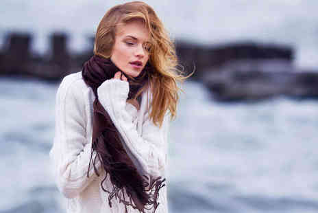 Catwalk Glamour - Cashmere and Silk Pashmina in Choice of Colours - Save 81%