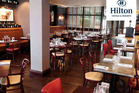 The Hilton Hotel - Valentine s Four Course Dinner with Champagne on Arrival Coffee and Petit Fours to Finish - Save 51%