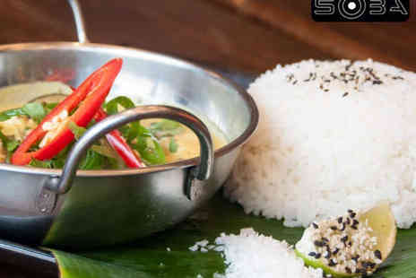 Bar Soba - Starter Main and Dessert Each for Two - Save 59%