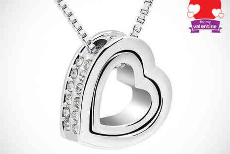 Van Amstel Diamond - Crystal Heart Pendant  Including Delivery - Save 81%