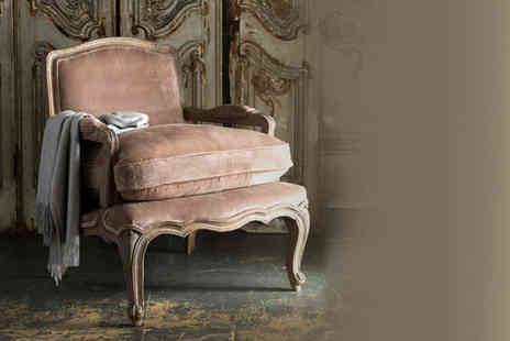Alison - Mink coloured velvet Filou French footstool - Save 46%