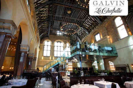 Michelin Starred Galvin La Chapelle - Three Course Michelin Starred Meal with Glass of Champagne for One - Save 46%