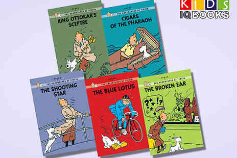 Kids IQBooks - Five Book Tintin Young Readers Collection - Save 54%