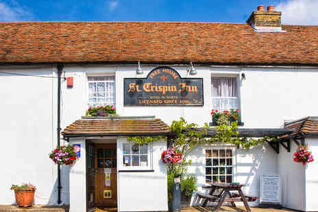 The St Crispin Inn - Kentish Coaching Inn Break for Two People Including a Three Course Meal - Save 55%