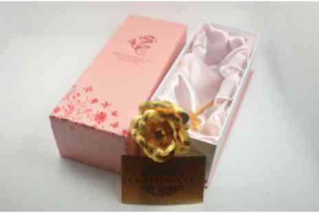 Merchtopia - Handcrafted 24k Gold Plated Rose in luxurious gift box - Save 83%