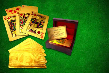 DK88 - Pack of 24k gold plated playing cards - Save 84%