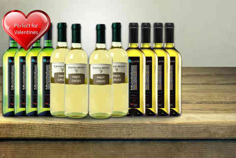 Oakbridge - 12 bottles of red white or mixed wine - Save 55%