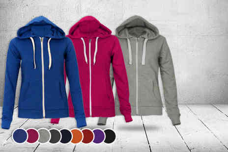 Karma Clothing - Zip up hoodie in a choice of colours - Save 60%