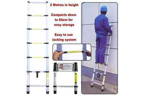 homewith bargains - Two m Telescopic Ladder - Save 64%