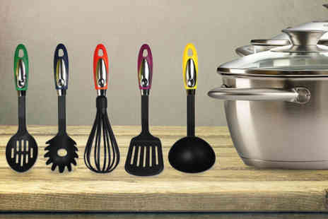 Juggernet.com - Five piece non stick kitchen utensil set - Save 78%
