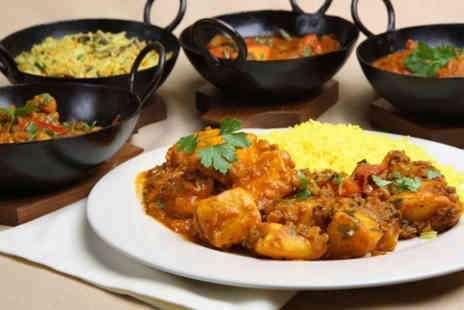 Masala - Two course Indian meal for 2 including side & glass of wine - Save 39%