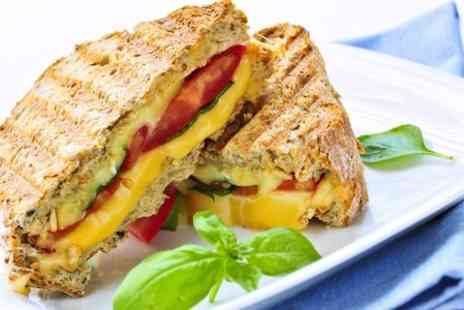 LTGs Al Fresco Dining - Panini Hot Drink and Pastry - Save 53%