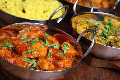 Masala Indian Restaurant - Starter Main Course, and Rice for Two - Save 61%