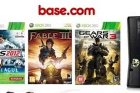 Base.com - 4GB Xbox Console With Kinect Sensorr, 12 month Xbox Live gold card, and 2100 Live points - Save 25%