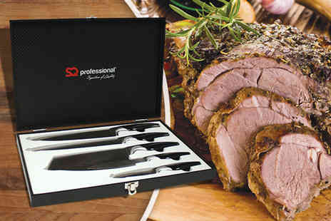 SQ Professional - Six piece Gems knife set in red or black  - Save 67%