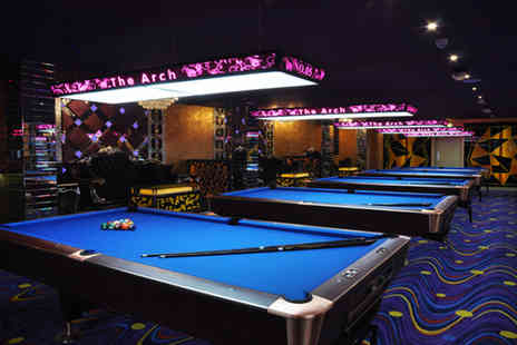 The Arch Manchester - Two hours of pool table hire for 2 & a beer or cocktail  - Save 65%