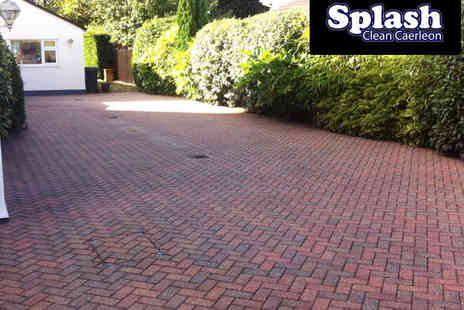 Splash Clean Caerleon - Block Paving Clean for 20 Square Metre Driveway - Save 50%