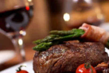 Sizzle and Grill - Mains sides or desserts and wine for two - Save 64%