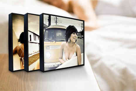 The Image Box - Three 5 x 5 wooden photo blocks - Save 73%