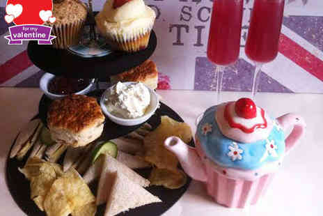 Temple  Street Social - Afternoon Tea for Two with a Glass of Bubbly Each - Save 50%