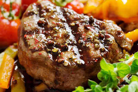 Santinis - Steak Meal with Glass of Wine Each for Two People - Save 52%
