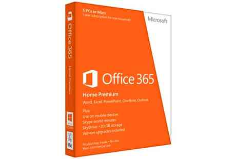 The Hut Group - Microsoft Office 2013 Home Premium One year License Card for up to 5 Users - Save 25%