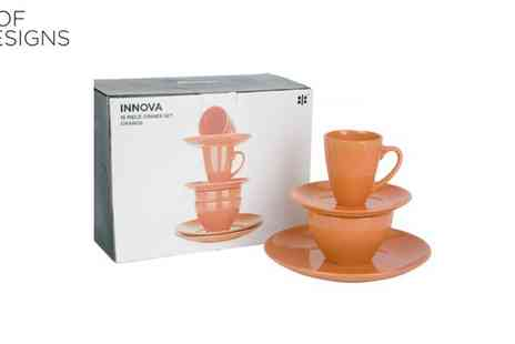 Irof Designs - Innova Burnt Orange Dinner Set - Save 60%