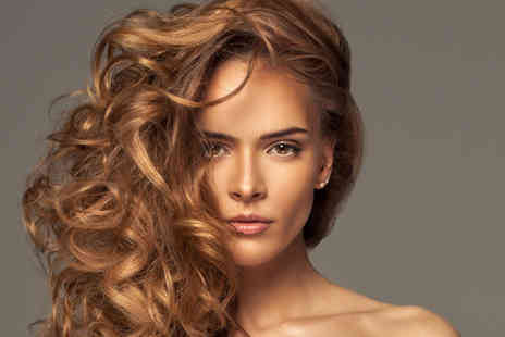 The Beauty Salon - Half head highlights OR full colour, with cut blow dry & condition - Save 58%