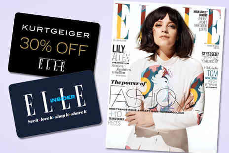 ELLE Magazine - 12 Month Subscription to ELLE Including Delivery - Save 65%