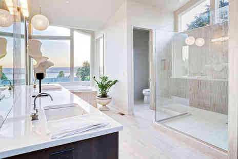 Bradbury Plumbing - Professional designer bathroom installation - Save 50%