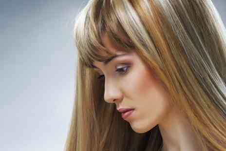 Neavaeh Nails Beauty & Hair Salon - Half Head Highlights With Treatment Cut and Style - Save 61%