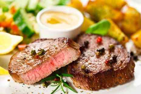 The Oxford Retreat - Steak, Dessert and Bellini Cocktail For Two - Save 47%