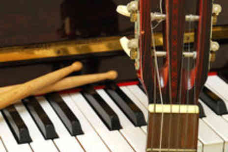 Glasgow Music Studios - Three Professional Drum, Guitar or Piano Lessons - Save 50%