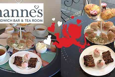 Johannes Sandwich Bar - Afternoon tea for two complete with Pink Bubbly - Save 45%