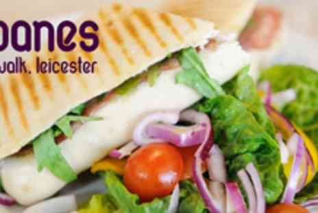 Sloanes - Choose a coffee, tea or soft drink + panini, baguette or granary sandwich - Save 63%