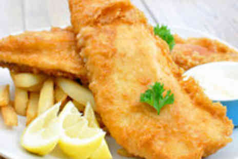 The Telford Arms - Fish and Chips with Tea or Coffee for Two People - Save 59%