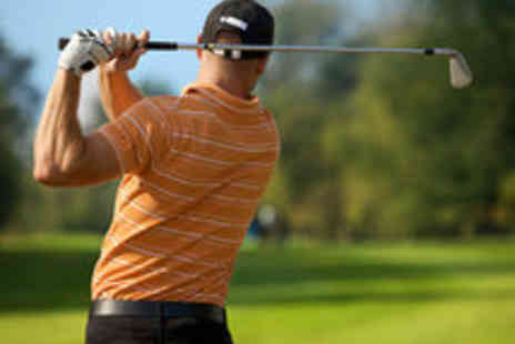 Bishopbriggs Golf Range - Golf Tuition Day Including Trackman Swing Analysis and Nine Holes - Save 73%