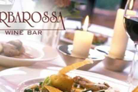 Barbarossa Wine Bar - Two Course Meal For Two With Glass of Prosecco or Champagne Cocktail - Save 59%