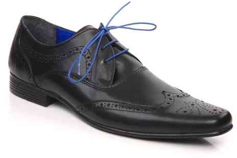 Unze - Mens Brogues in Black or Brown - Save 50%