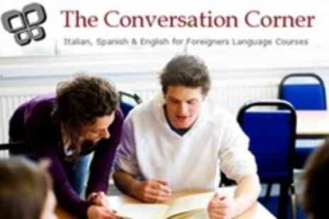 The Conversation Corner - 10 One Hour Spanish, Italian or English as a Foreign Language Lessons - Save 78%