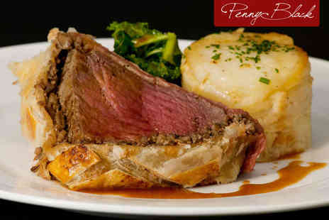 The Penny Black Restaurant - Beef Wellington and Glass of Champagne Each for Two People - Save 49%